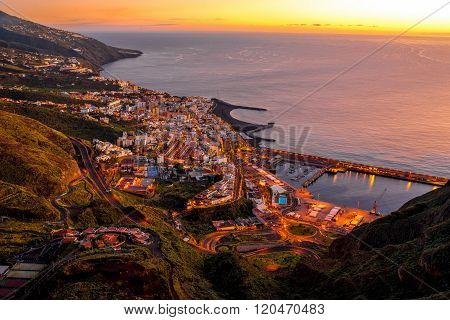 Santa Cruz city on La Palma island