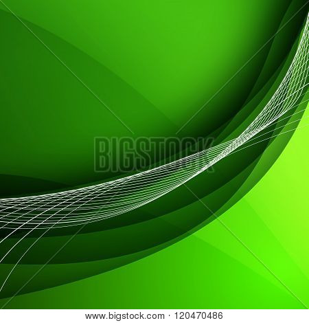 Abstract Background With Green Lines. Vector Illustration