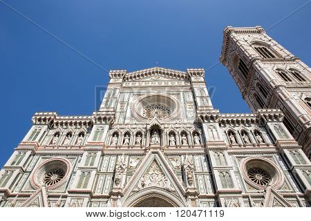 Dramatic View Of The Cathedral Of Florence
