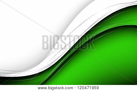 Stylish Abstract Green Background. Vector Illustration