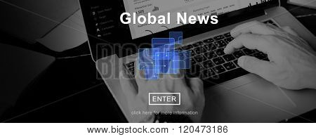 Global News Online Technology Update Information Concept