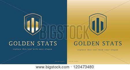 premium corporate statistics vector logo design