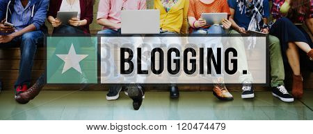 Blog Blogging Content Social Media Network Homepage Concept