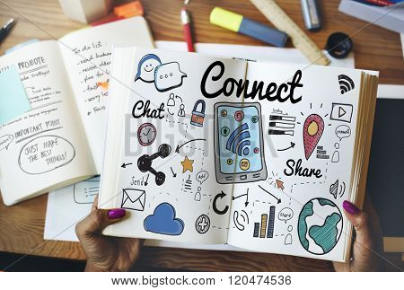 Connect Social Media Social Networking Concept