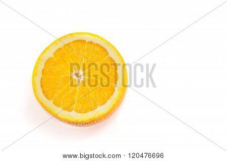Halved Orange Isolated