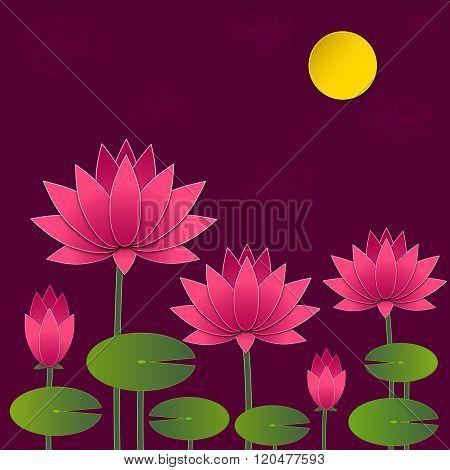 Vector Paper Lotus
