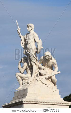 Statue at Venice Square in Rome