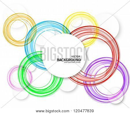 Colorful Overlapping Circles Design Background