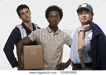 Portrait of a mechanic delivery man and postman