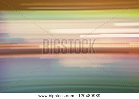 Abstract Colorful Streaked City Lights Background