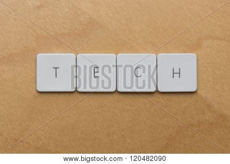 Keyboard Letters Tech
