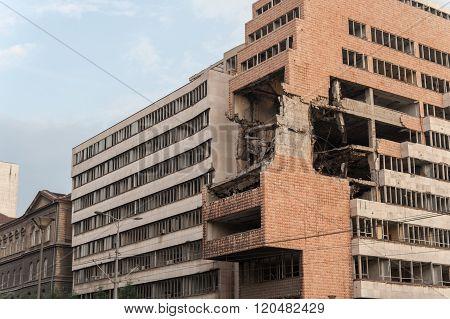 Belgrade Bombed Building