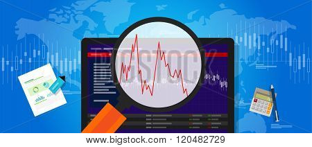 volatile market stock volatility down crash trend price investment index fluctuation