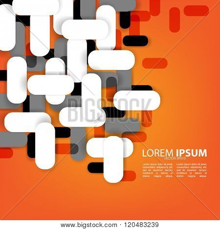 overlapping geometric shape elements material background