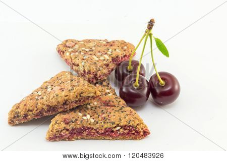 Integral Biscuits With Cherry Fruit