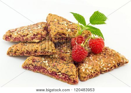 Integral Biscuits With Fresh Raspberry