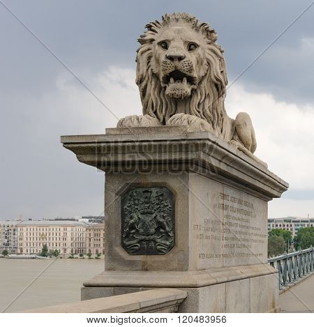 Lion Szechenyi Chain Bridge