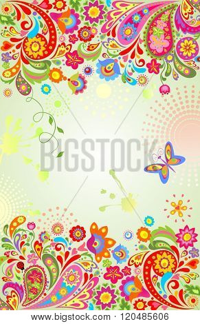 Summery floral banner