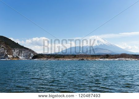 Lake Shoji with mt Fuji in Japan