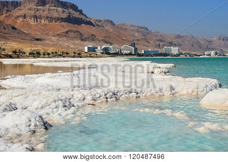Typical Landscape Of The Dead Sea, Israel