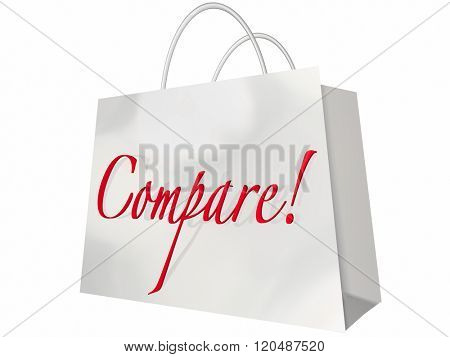 Compare Shop Best Deal Lowest Price Stores Comparison Bag