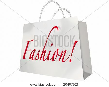 Fashion Word Shopping Bag Style Store Sale