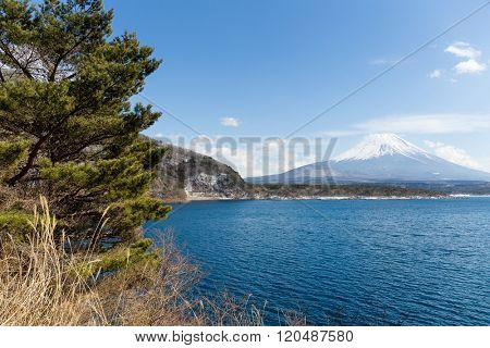 Mountain Fuji and Lake Motosu