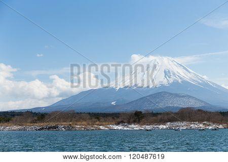 Fujisan with Lake Shoji