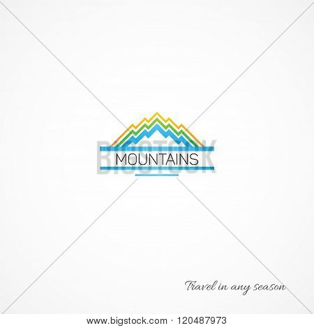 Bright Picture Of Mountains, Like A Journey.