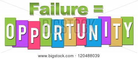 Failure Equals Opportunity Professional Colorful
