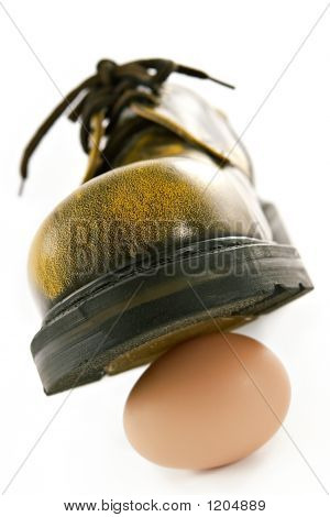 Boot Crushing An Egg