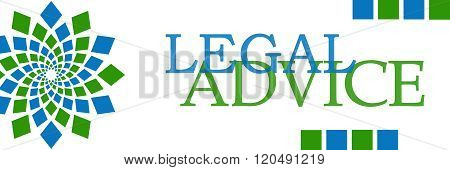 Legal Advice Green Blue Square Elements