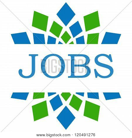 Jobs Green Blue Elements Square