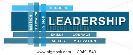 Leadership Blue Stripes Keywords