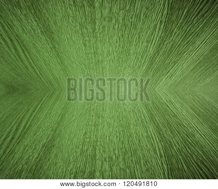 Pale green, pastel wood grain, in mirror image, abstract background texture with diminishing perspective / depth / motion effect.