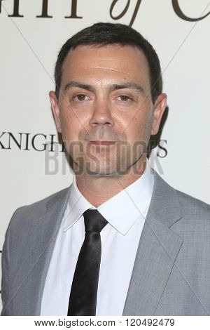 LOS ANGELES - MAR 1:  Joe Lo Truglio at the Knight of Cups Premiere at the The Theatre at The ACE Hotel on March 1, 2016 in Los Angeles, CA