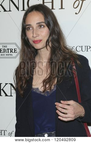 LOS ANGELES - MAR 1:  Rebecca Dayan at the Knight of Cups Premiere at the The Theatre at The ACE Hotel on March 1, 2016 in Los Angeles, CA