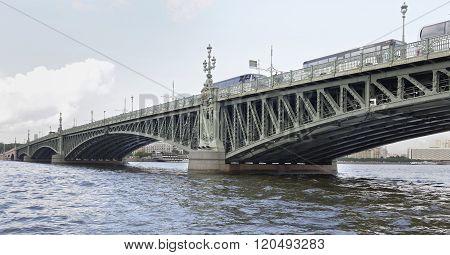View Of The Troitsky Bridge In St. Petersburg
