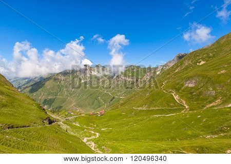 Beautiful View Of The Alps Near Brienzer Rothorn