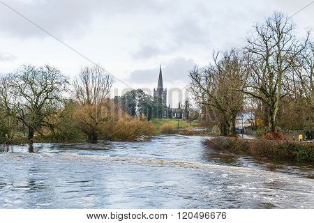 Flooding River Suir In Cahir City