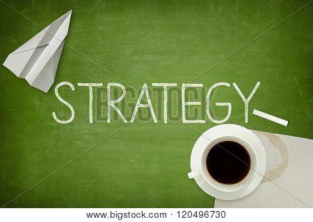 Strategy concept on blackboard