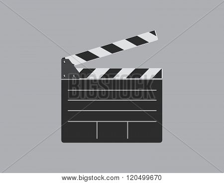 Director clapperboard. Single flat icon. Vector illustration.