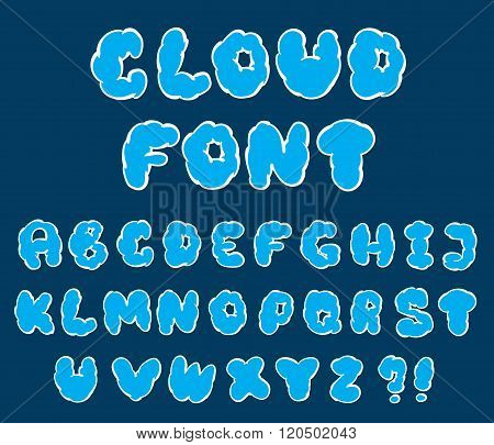 Cartoon Cloud Font