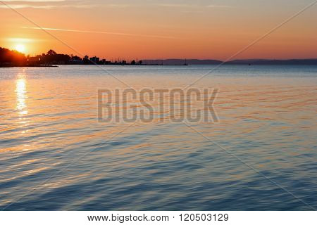 Autunm Sunset On The Lake Balaton, Siofok - Hungary
