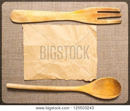Kitchenware With Space For Recipe
