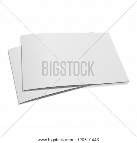 Stack of two blank closed Magazines