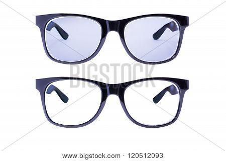 Two Eyeglasses Frame isolated over white background