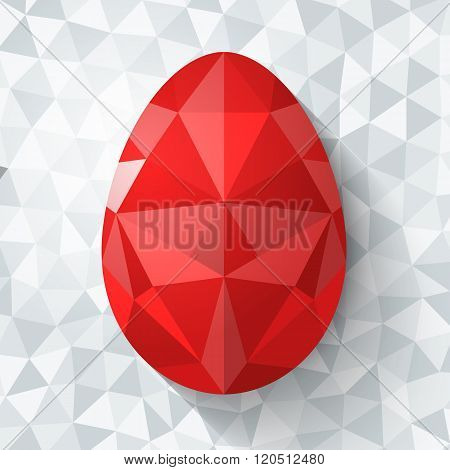 Flat design polygon of Easter egg isolated
