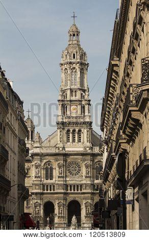 The Eglise De La Sainte Trinite, Paris, France.