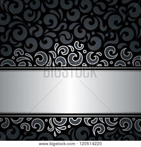 Decorative black & silver luxury vintage background